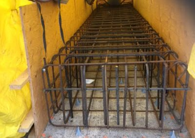 Commercial forming and rebar