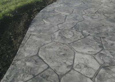Random Stone Stamp Concrete