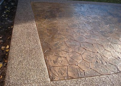 Stamp and Expose Concrete Patio